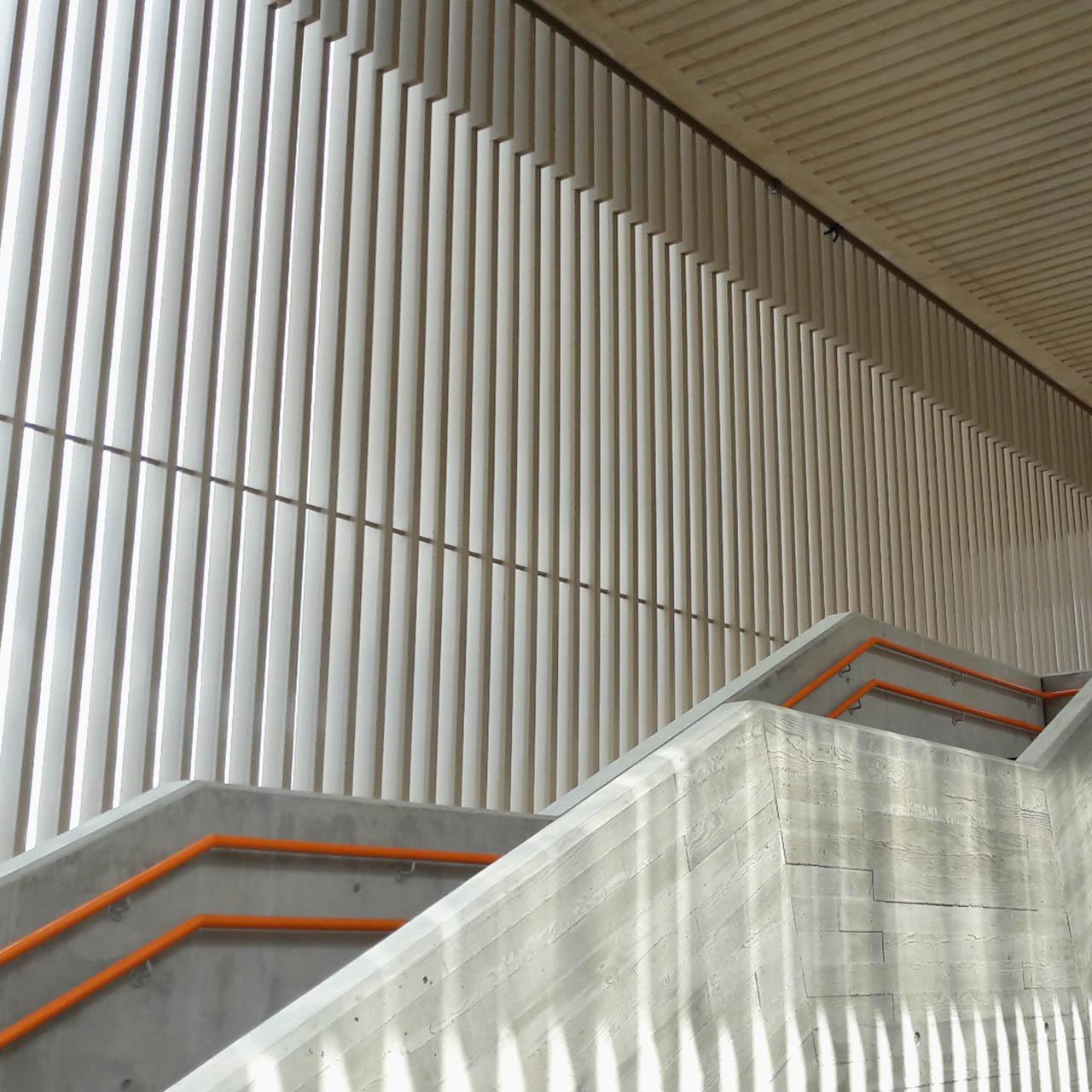 hackney wick station aluminium fins