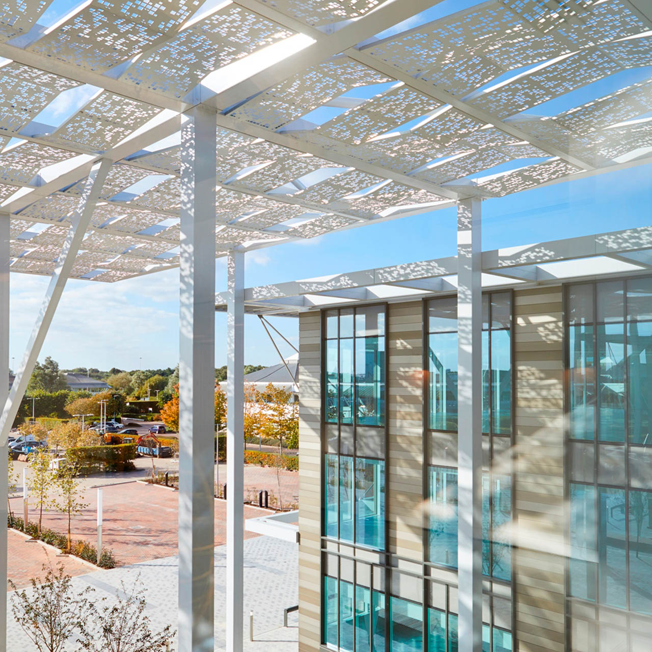 solar shading canopy at the bower building