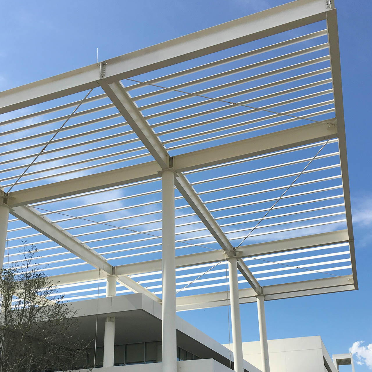 solar shading solution at bmw showroom in texas