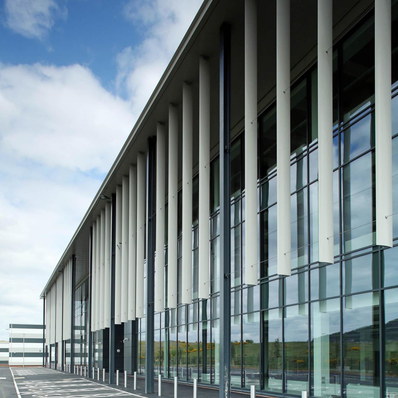 profile shot of belfast harbour studios aluminium fins