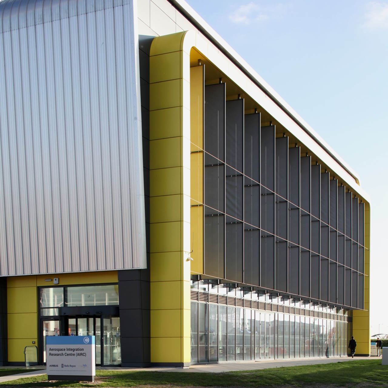 solar shading system at airc, cranfield university