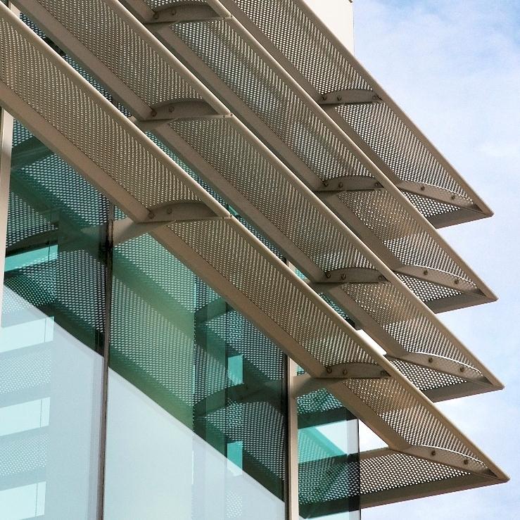 multi coloured aluminium fins